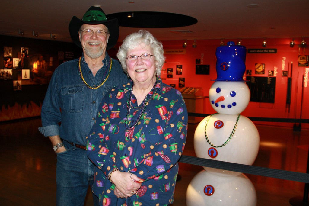 Jim Hess and his sister Sharon Aumick at February's 2300°: Mardi Gras Snow Day