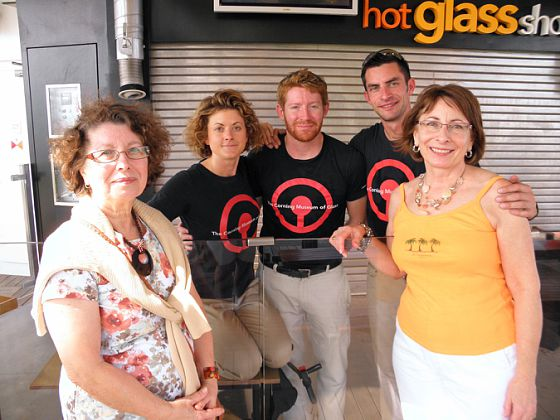 Visiting the Corning Museum of Glass glassblowers on the celebrity solstice