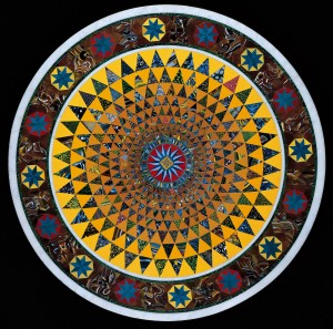 Image of a mosaic glass tabletop, CMoG accession 97.3.10