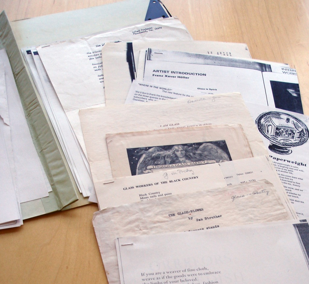 A file full of poems at the Rakow Research Library