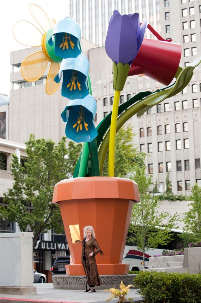 Ginny Ruffner with The Urban Garden, in Seattle WA