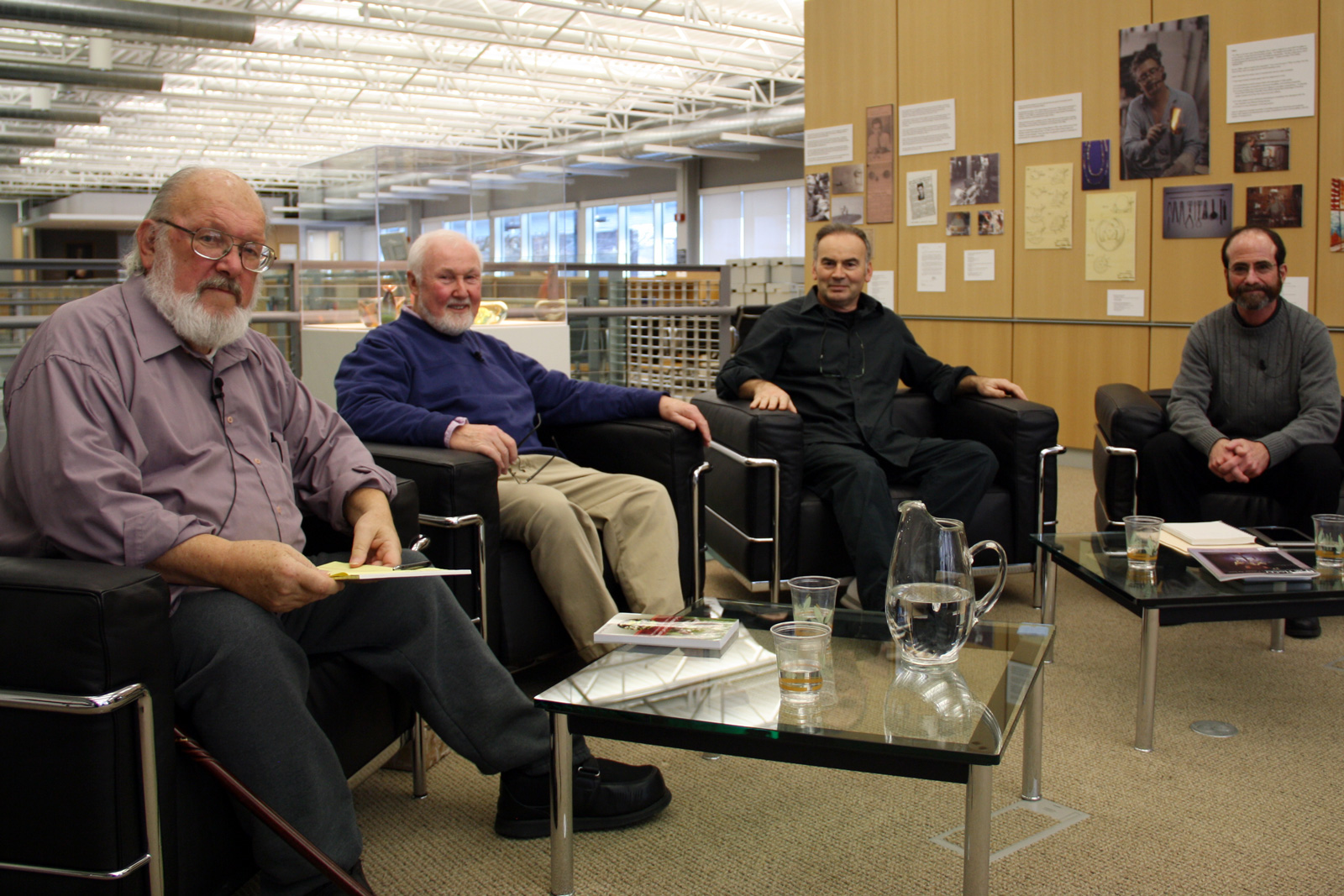 Jim Friant, Paul Stankard, Lucio Bubacco and Brad Turner oral history interview at the Rakow Library