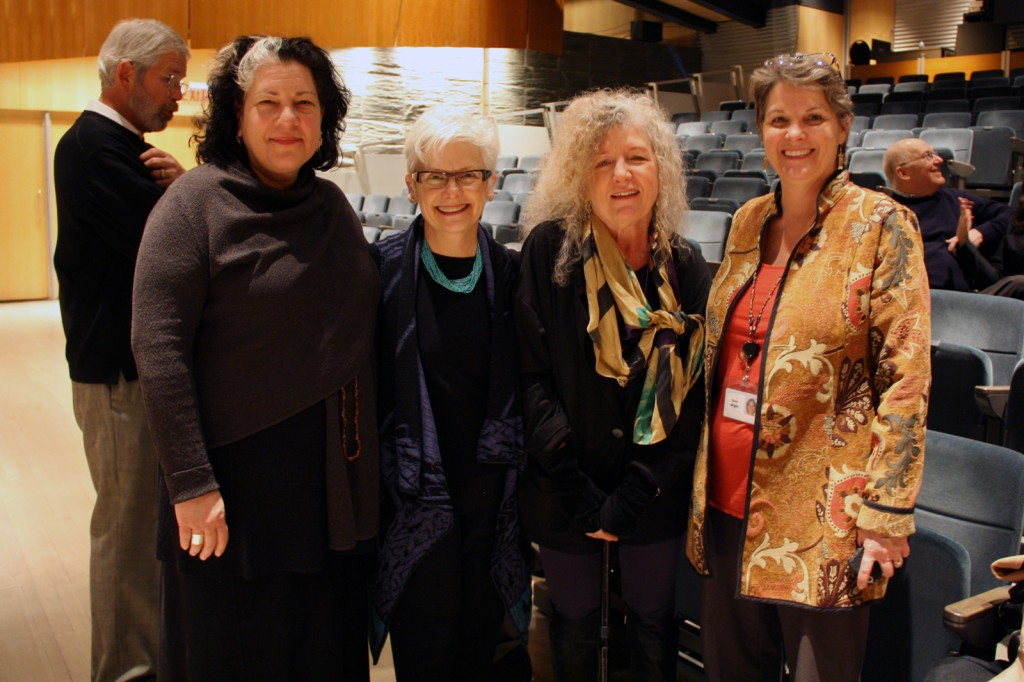 Tina Oldknow, Marie McKee, Ginny Ruffner and Karol Wight at the viewing of A Not So Still Life at The Corning Museum of Glass