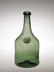 Bottle with the Seal of Richard Wistar. Wistarburgh Glassworks, about 1745-1755. (86.4.196)