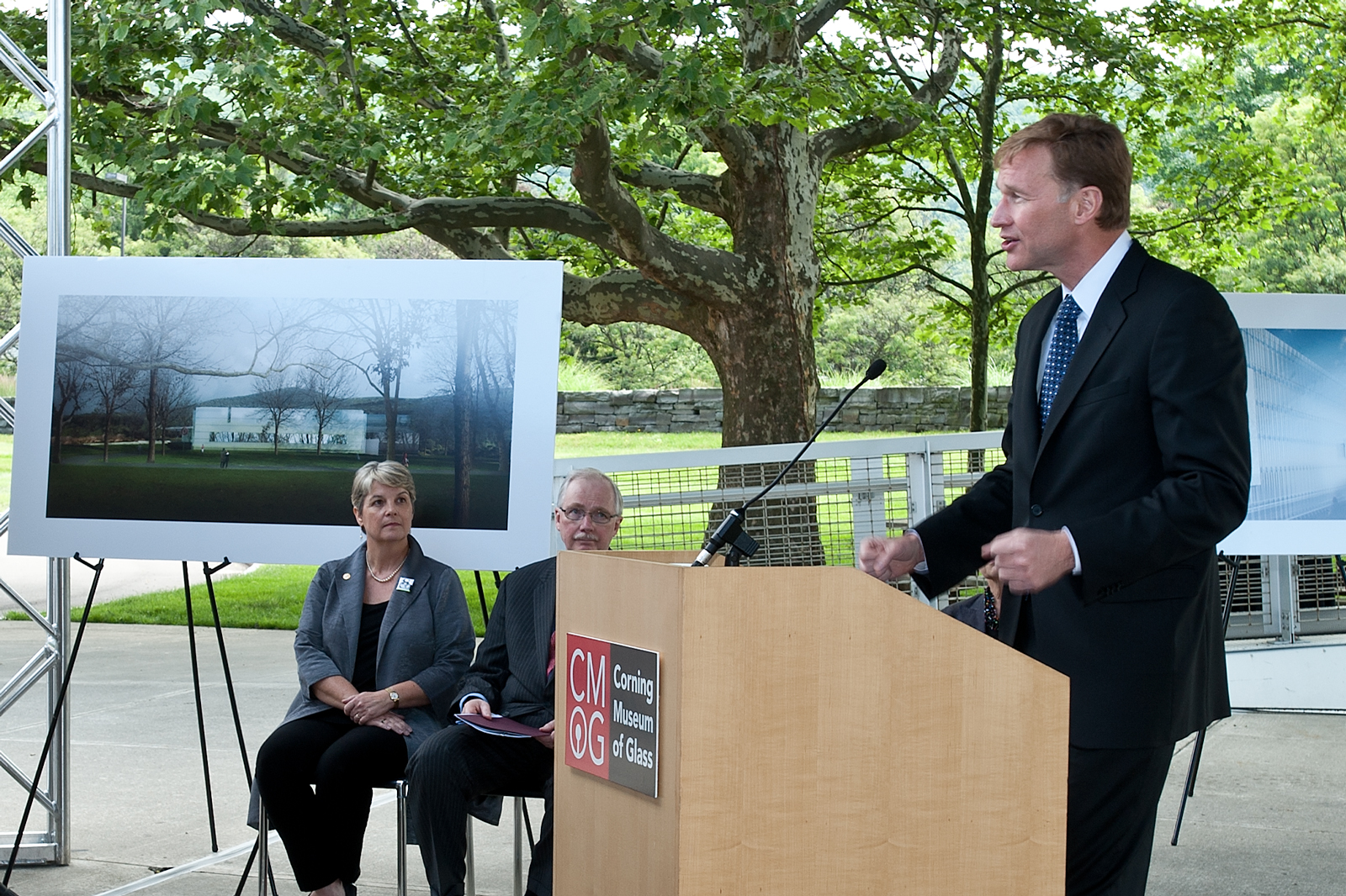 wendell weeks providing remarks at the north wing expansion ground breaking ceremony
