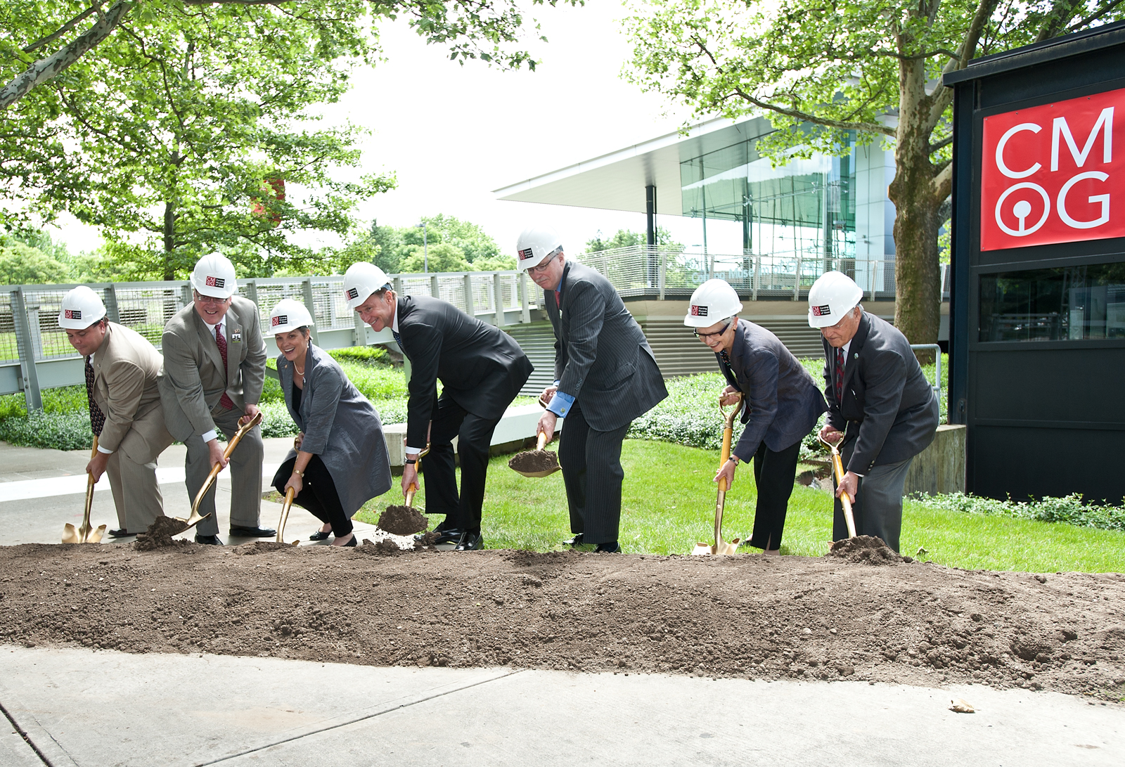 Groundbreaking for the North Wing expansion at The Corning Museum of Glass