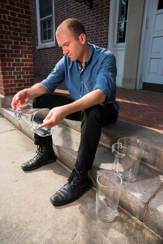 Leon Ransmeier continued his series of glass pitchers at GlassLab on Governors Island