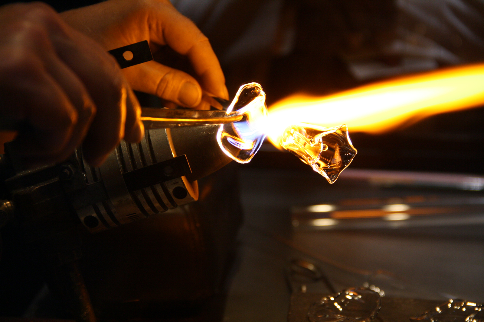 Live flameworking demonstration
