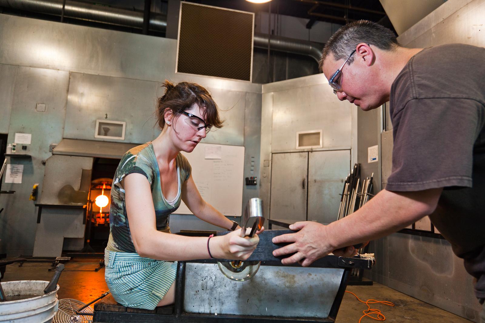 Celebrity Cruises Glassmaking Scholarship recipient Lauren Hunt