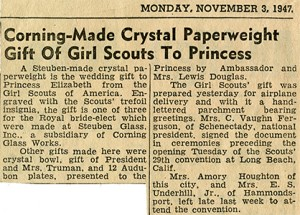 Girl Scout Gift 11-3-1947