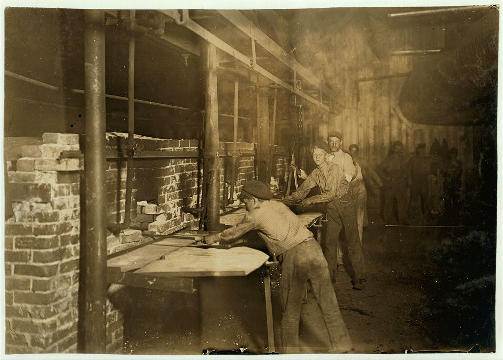 "The ""Carrying-in Boys,"" Midnight At an Indiana Glass Works."