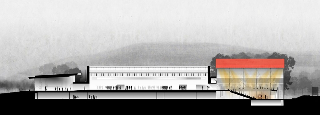 Cross section rendering of the North Wing Expansion