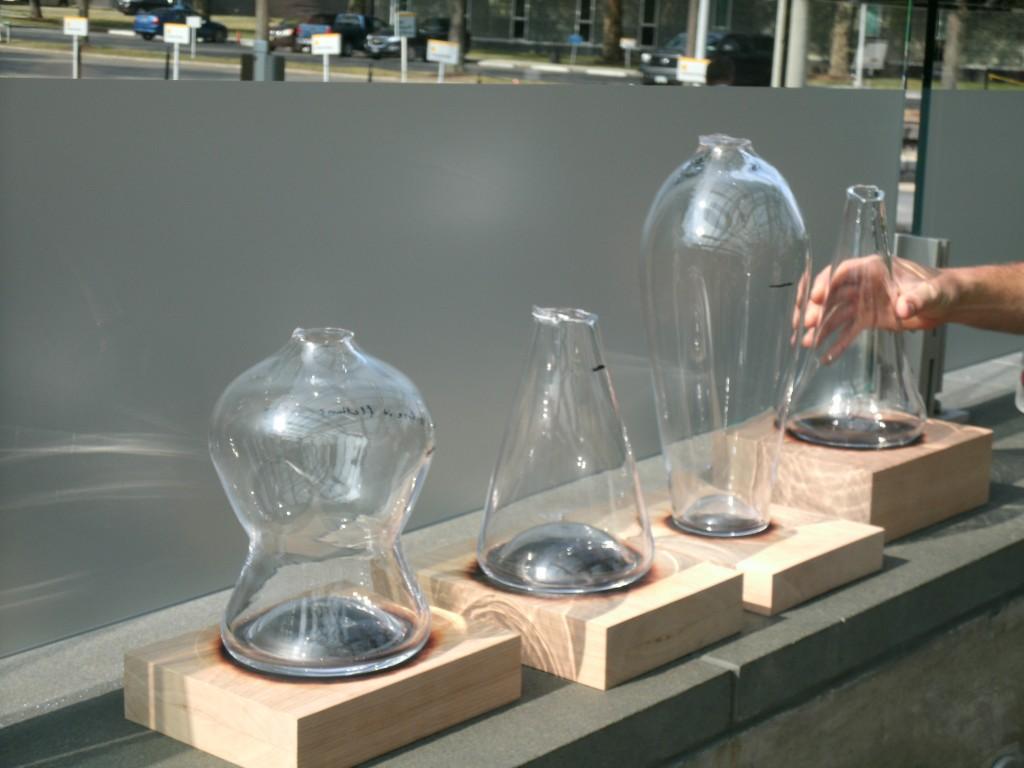 Some of Jon Otis' design protoypes made at GlassLab.