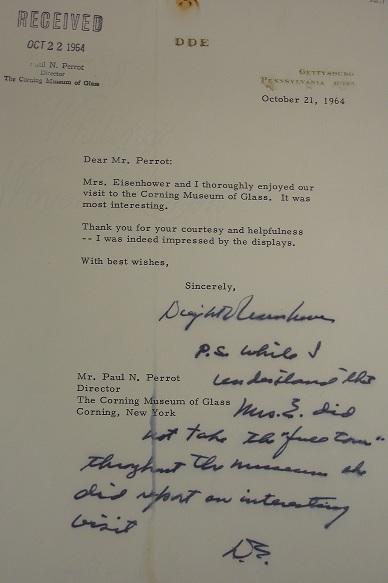 Letter from Dwight D. Eisenhower to Paul Perrot dated October 21, 1964, bib no. 126517