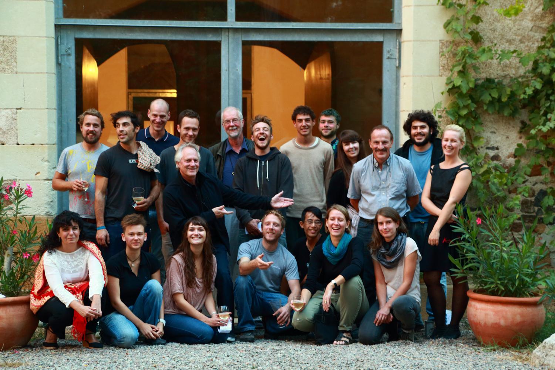 The 'Liquid Fusion' participants and the Boisbuchet workshop group. Photo: Domaine de Boisbuchet © Alessandro Fedeli 2012