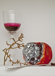 Pomegranate from Inverted Vanitas by Joanna Manousis