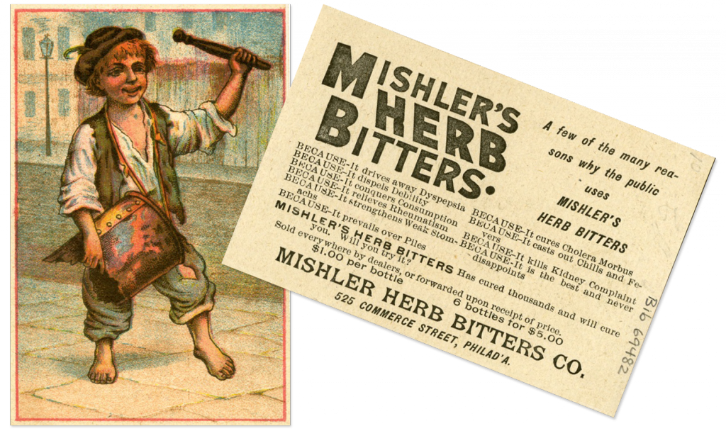 Ephemera relating to bitters, bib no. 69482