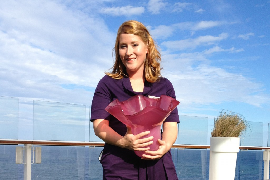 Corning Museum Glassblower Megan Mathie Named Honorary Godmother of Celebrity Cruises' New Ship