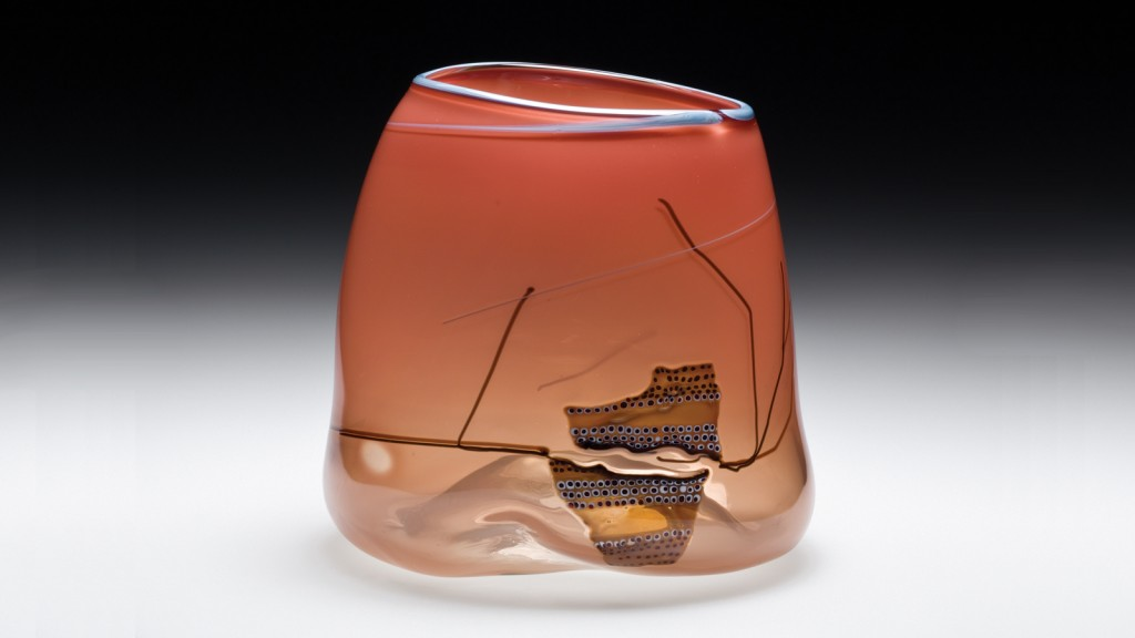 Pilchuck Basket, Dale Chihuly (American, b. 1941), United States, Stanwood, Washington, Pilchuck Glass School, 1980. Blown glass, hot-applied cane drawing. H. 6 in. Collection of The Corning Museum of Glass, 2012.4.160, gift of Dan Greenberg and Susan Steinhauser.