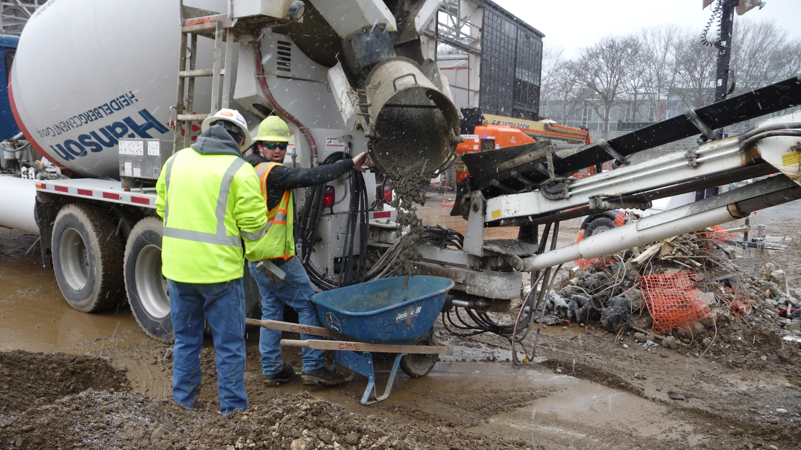 Museum expansion update concrete and cold weather for Concrete freezing