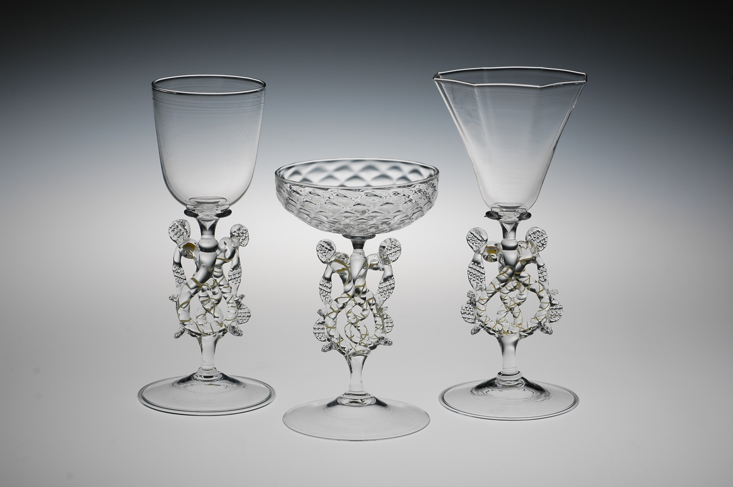 Historical Goblets by William Gudenrath