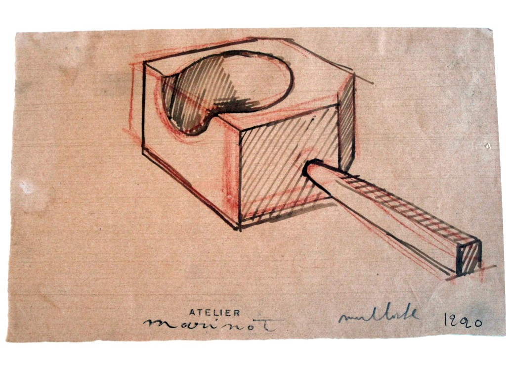 Marinot, Design Sketch of Glass Working Tool, 1920. CMG 69.7.60