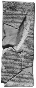 ancient cuneiform with recipe for glassmaking