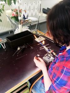 Jacqueline making a prosthetic eye