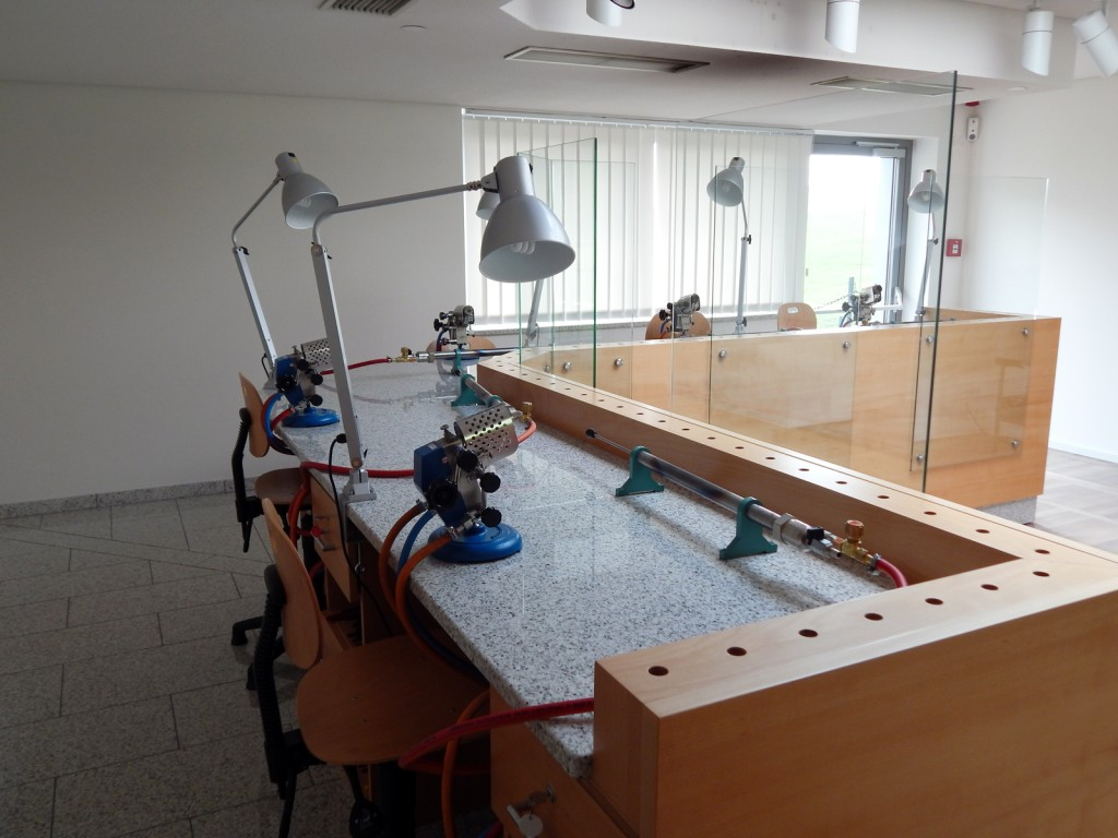 Lampwork studio at the European Museum of Modern Glass