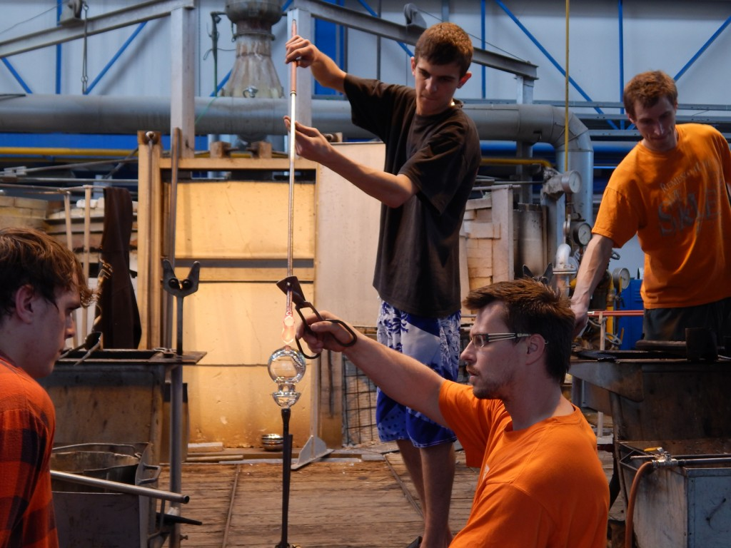 Pavel's students making goblets