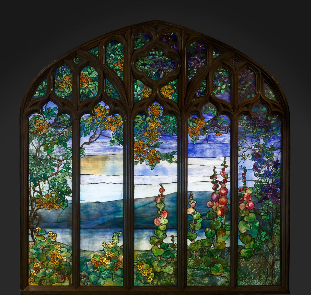 Stained Glass Window from Rochroane Castle, Irvington-on-Hudson, New York, Louis Comfort Tiffany, 1905.