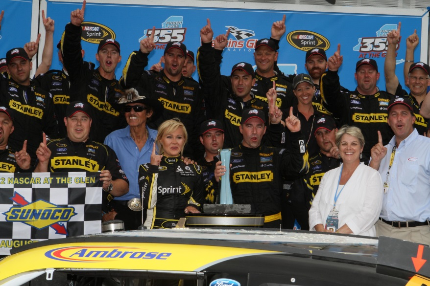 Marcos Ambrose won the 2012 NASCAR Sprint Cup Series and took home the trophy last year.