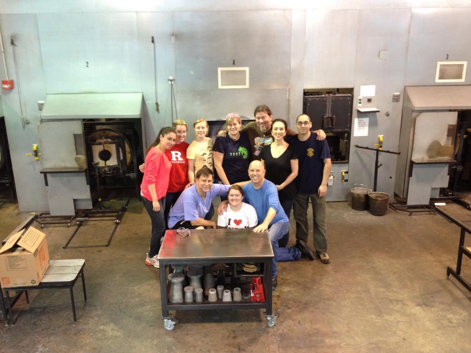 Intro to Glassblowing class at The Studio