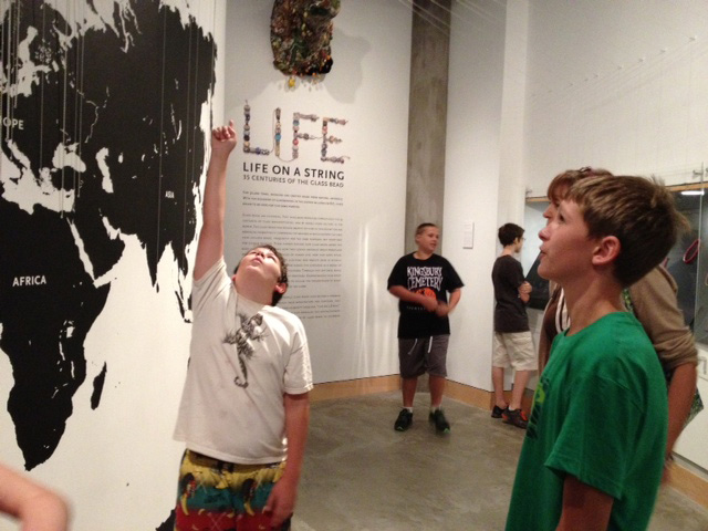 Exploring the Life on a String exhibition.