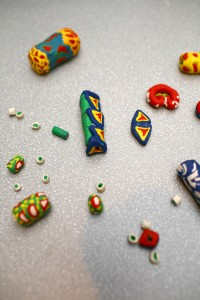 Polymer clay trade beads