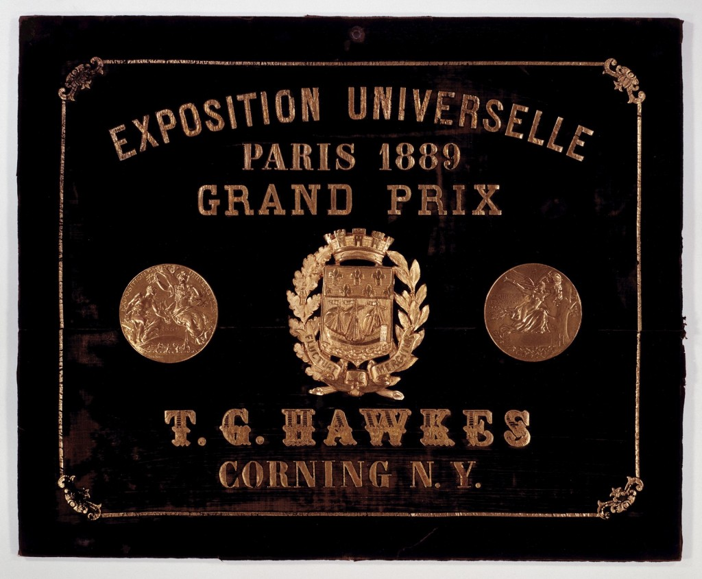 The Gold Medal which was awarded to Thomas G. Hawkes at the Paris Exposition of 1889 (63.7.33)