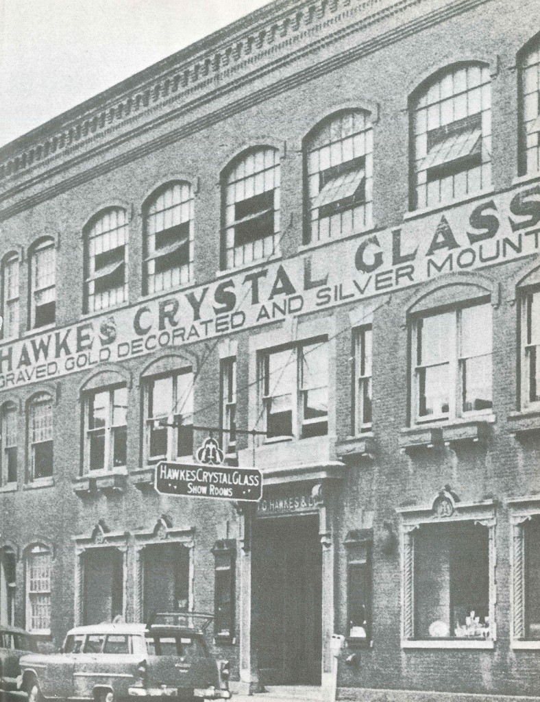 The final home of T.G. Hawkes & Co. on West Market Street  Coll. The Corning Museum of Glass