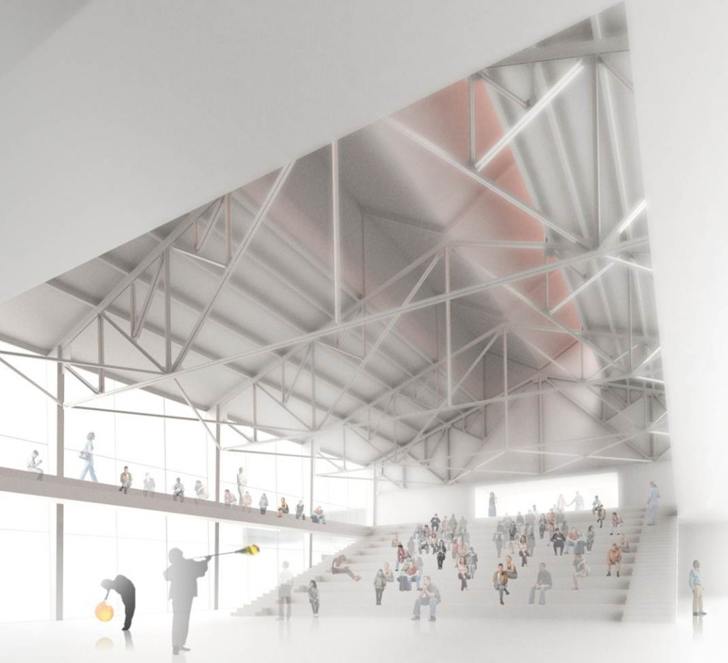 Rendering of the 500-seat Hot Glass Theater