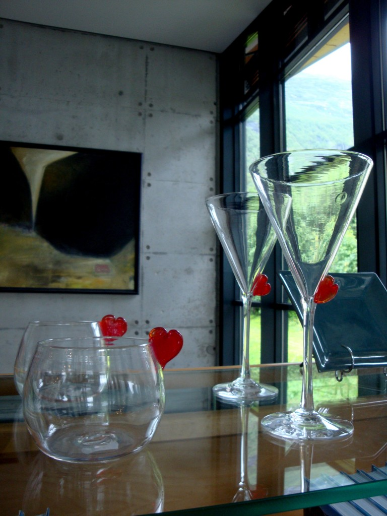 Glass vessels made by Ingrid