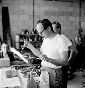 Harvey Littleton Studio Glass Workshop, Toledo Museum of Art Photographed by Robert C. Florian, June 1962 Gift of Robert C. Florian