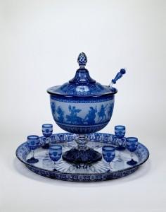 Punch Bowl, Tray, and 15 Glasses Compagnie des Verreries et Cristalleries de Baccarat France, Baccarat 1867 67.3.41 Gift of Mrs. Charles K. Davis