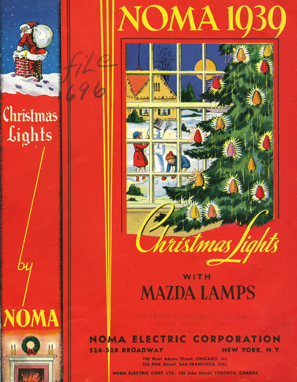 The cover of a 1939 NOMA catalog. (From Christmas lights with Mazda ...
