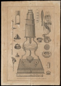 Description of the double reflecting microscope, made by P. and J. Dollond, opticians in St. Paul's Church-yard, London. 1770-1779. 4 p., 2 leaves of plates: ill.; 27 x 19 cm. CMGL 136560.