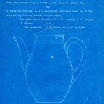 Tall Teapot Design Patent, Corning Glass Works, 1922 (CMGL 100113).