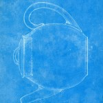Caption: Round Teapot Design Patent, Corning Glass Works, 1922 (CMGL 100113).