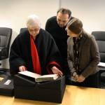Staff looks through some of their favorite rare books.
