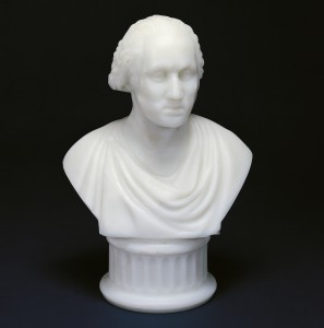 Bust of George Washington, 1876. Bakewell, Pears & Company, United States, PA, Pittsburgh. Pressed and cast glass 56.4.5