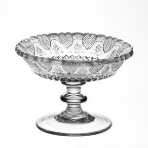 Heart-Strawberry-diamond Compote or Bowl, Boston & Sandwich Glass Company, United States, MA, Sandwich, about 1828-1835. Pressed. (50.4.411)