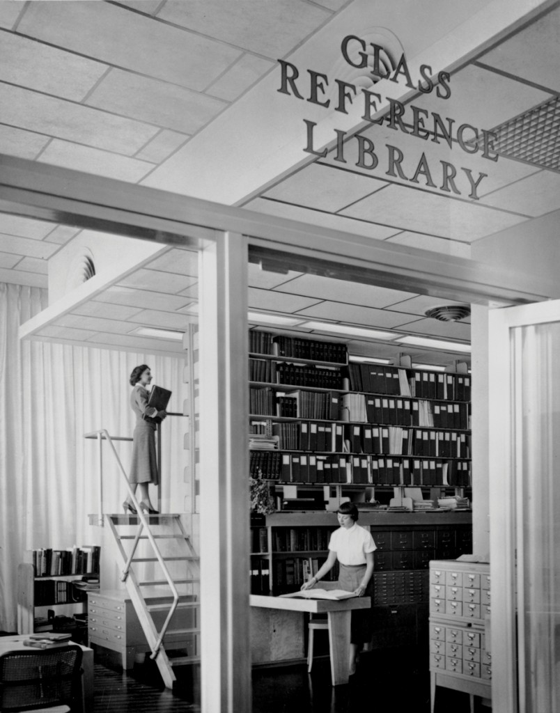 The Rakow Research Library in the 1950s.