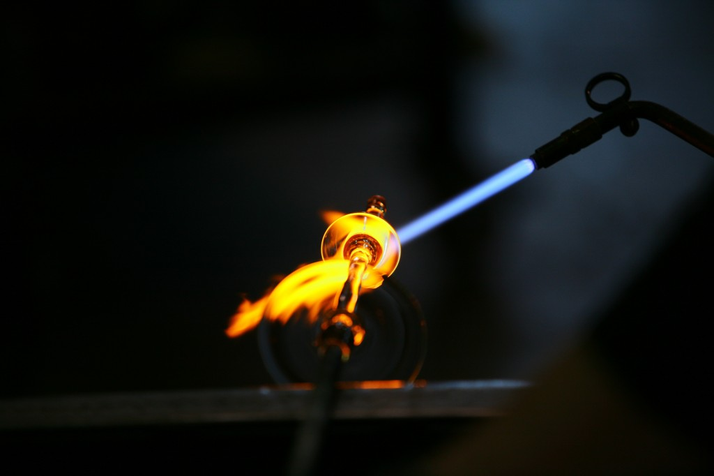 Guillermo Fok's design is created in hot glass.